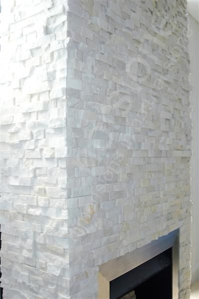Norstone White Rock Panels for Natural Stacked Stone Veneer wall cladding