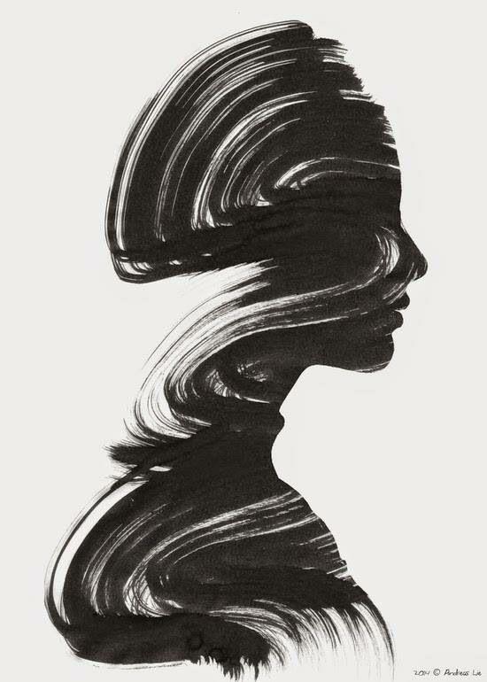 Mooi schilderij zwart wit