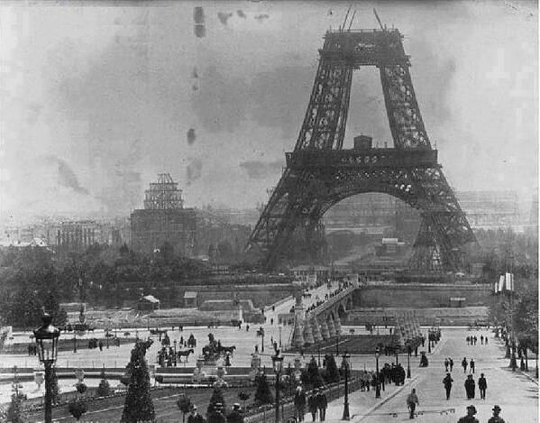 Twitter, A very rare photo of Eiffel Tower under construction in July 1888 pic.twitter.com/qd2TnfSJFh