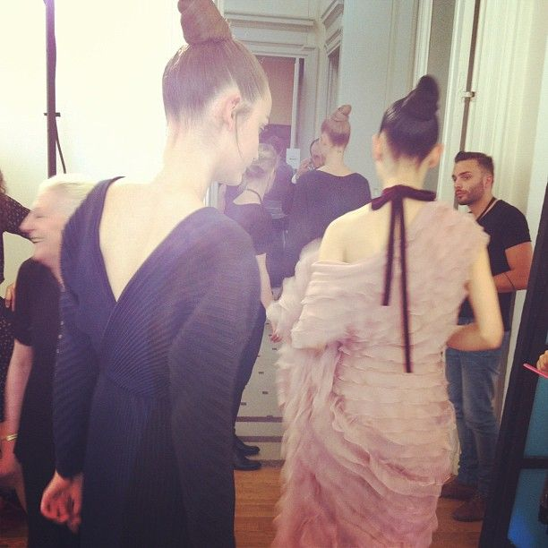 Backstage at #Valentino couture - Paris