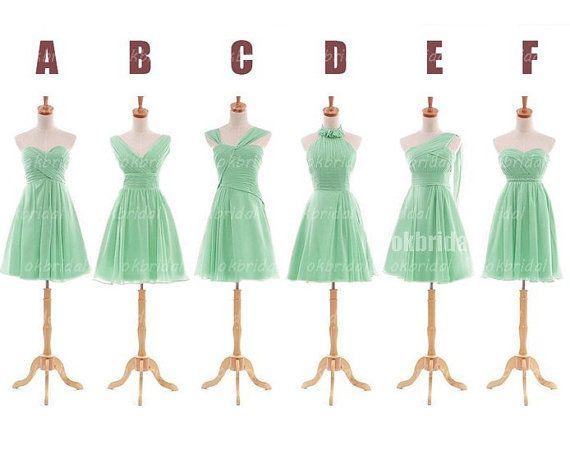 Mint green bridesmaid dresses cheap bridesmaid dress by okbridal