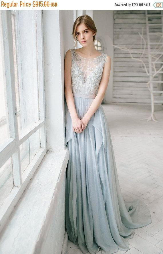 cyber monday sale 20 silver grey wedding dress by carouselfashion