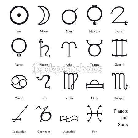 Pianeti e segni zodiacali — Illustrazione stock #6037998