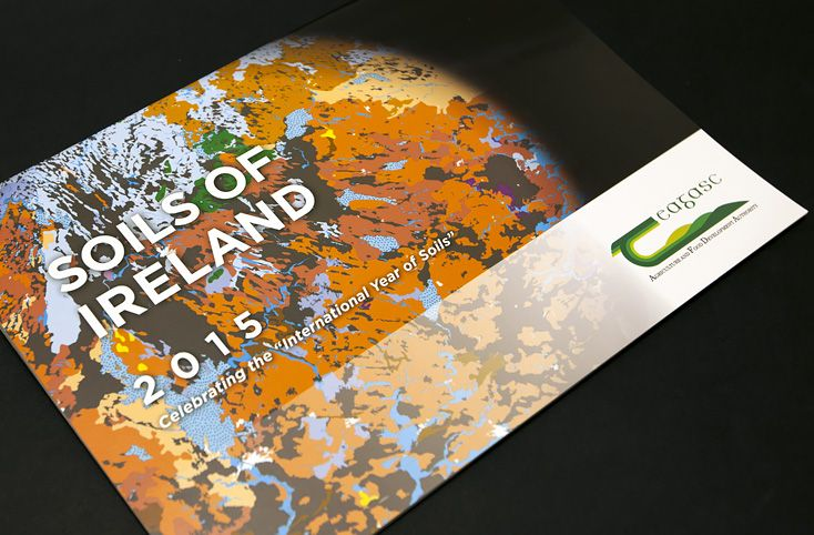 """Bespoke calendar design for Teagasc celebrating the """"International Year of Soils 2015″ www.akgraphics.ie"""