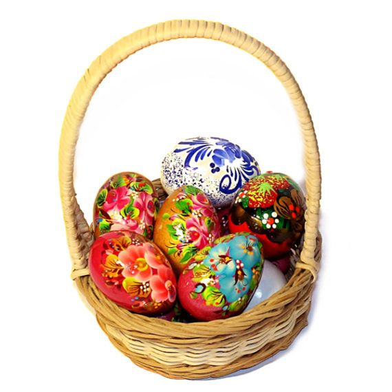 Russian decorative eggs 95 pinterest 10 russian hand painted easter eggs wooden pysanky by katyushashop negle Images