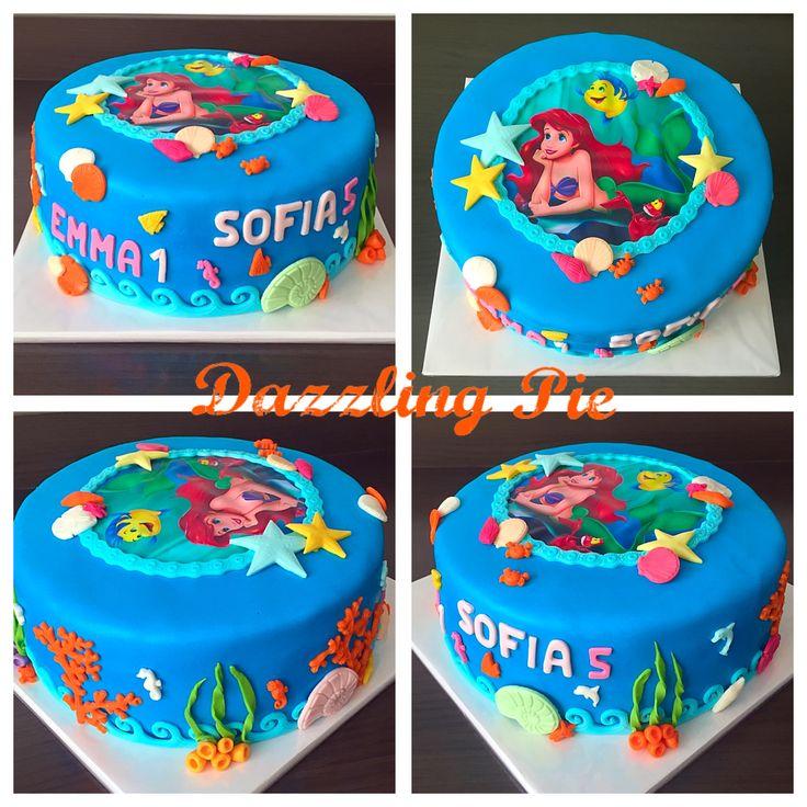 Ariël de kleine zeemeermin taart / The little mermaid cake made by Dazzling Pie