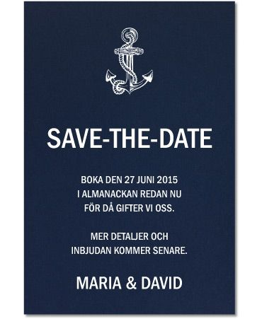 Save-the-date, Levigato marinblått för ett marint tema. #calligraphenwedding #calligraphendetails #savethedate #weddingcards #wedding #bröllop #nautical #marine #marint