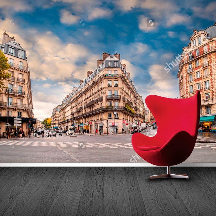 Fotobehang Straten van Parijs | Maak het jezelf eenvoudig en bestel fotobehang voorzien van een lijmlaag bij YouPri om zo gemakkelijk jouw woonruimte een nieuwe stijl te geven. Voor het behangen heb je alleen water nodig!   #behang #fotobehang #print #opdruk #afbeelding #diy #behangen #parijs #frans #frankrijk #europa #vakantie #straat #hoek #architectuur
