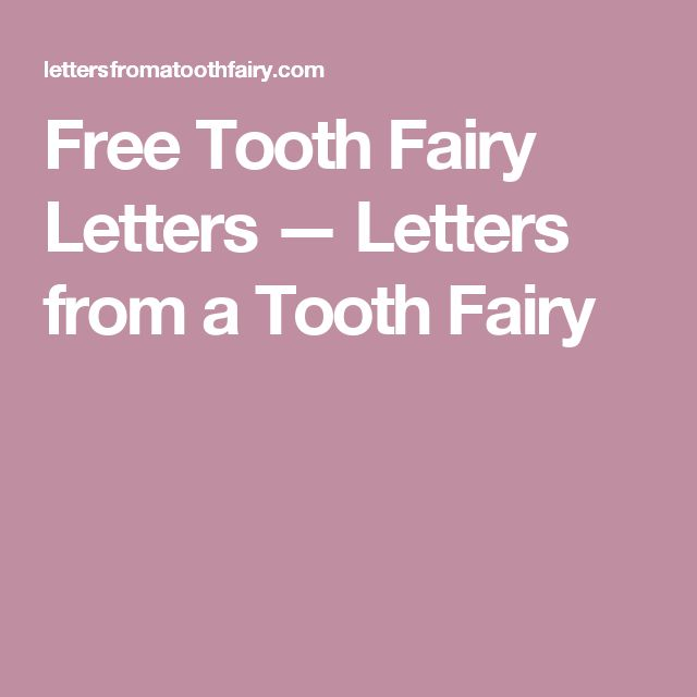 Free Tooth Fairy Letters — Letters from a Tooth Fairy                                                                                                                                                                                 More
