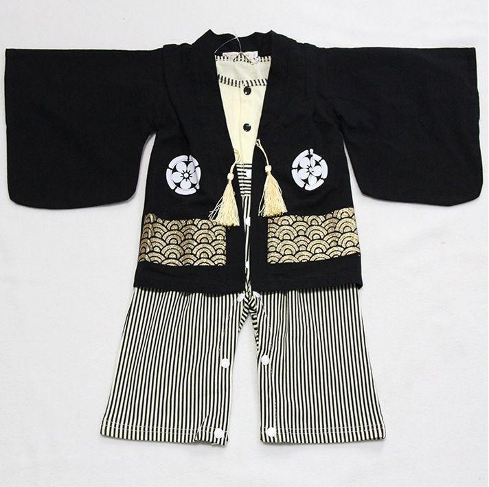 Кимоно Мальчиков Ползунки Устанавливает Кардиган Кимоно полосой трико костюмы костюм Костюмы детские платья