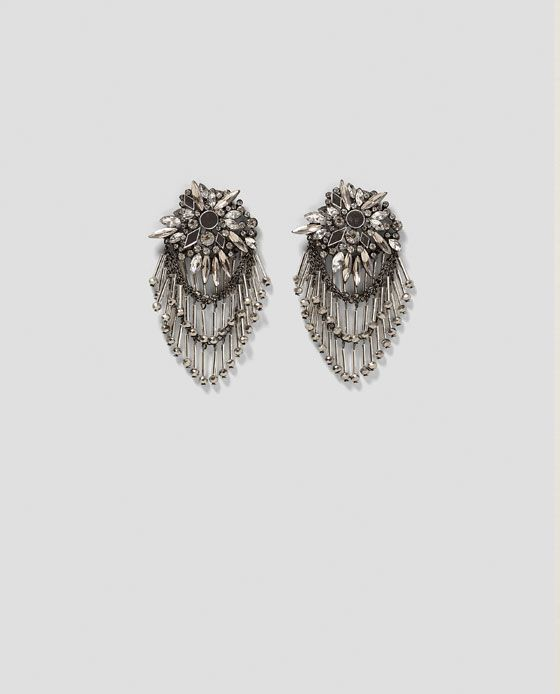 Image 1 of COMBINED MIRROR AND STONE EARRINGS from Zara