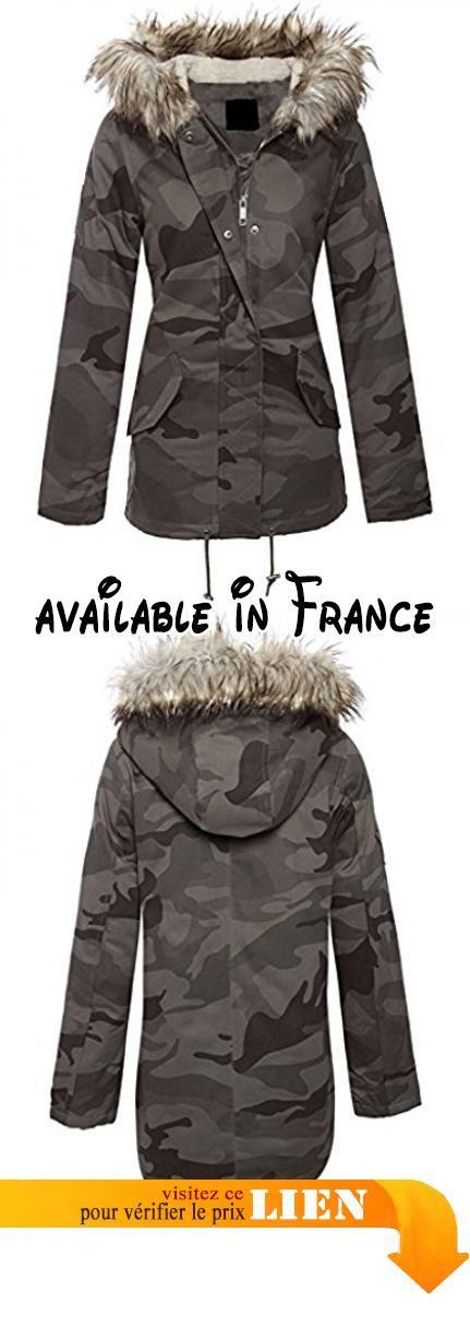 B01N053YCC : Nouveau Femmes Militaire Kaki Camouflage Veste Parka Manteau Khaki-Camo 40. Env. 71cm de l'épaule à l'ourlet. Fausse fourrure garniture capot Parka. 2 poches à la taille basse. Vestes kakis militaires
