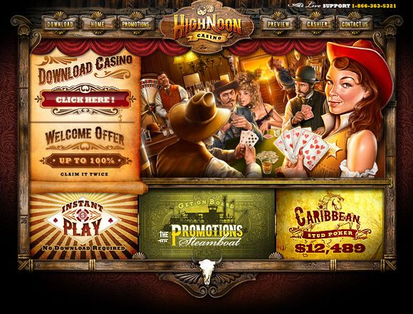 Highnoon Casino Design by LEAF 4 , via Behance