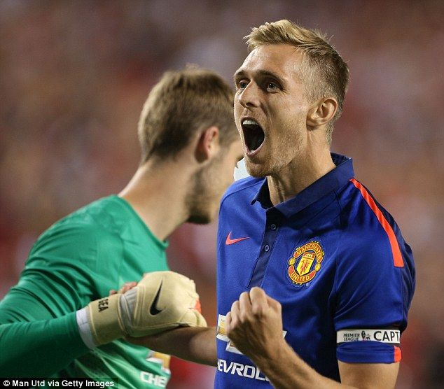 Pumped up: Darren Fletcher is desperate to land the first blow of the season as Manchester...
