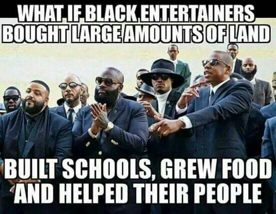 "these so called ""black leaders"" are just a bunch of rich slaves Please these puppets don't have no real money because if they did they would be able to speak out of injustice of a people there afraid of losing their so called money to their slave masters the people who own all media,banks,radio,magazines,hollyweird ,social media,clothing,food,land #Wake Up"
