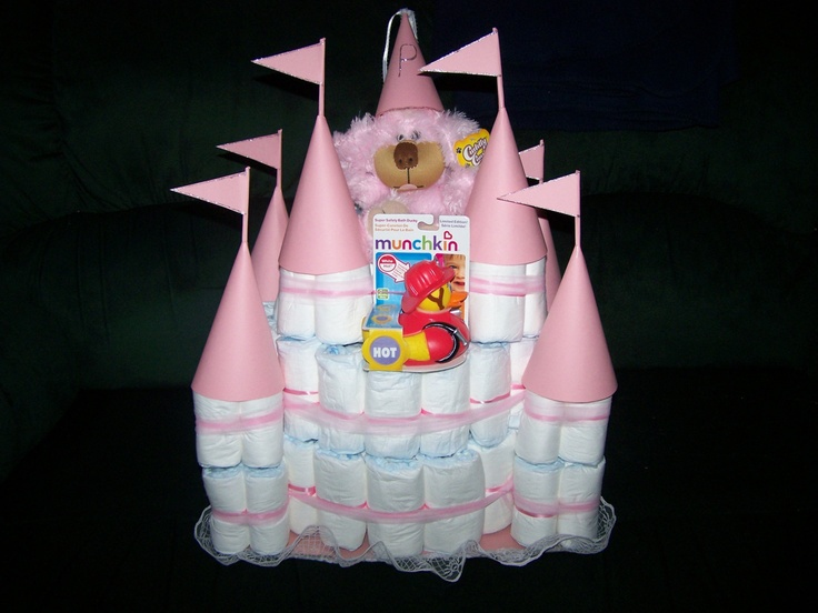 Diaper Castle Cake