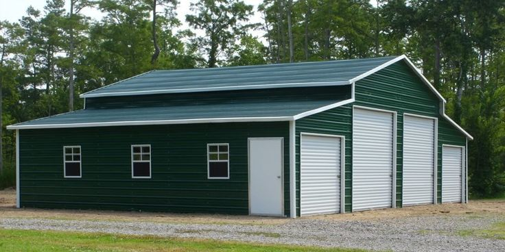 42 X 25 X 12 AGRI BARN WITH VERTICAL SIDING, TWO VERT GABLES, AND TWO 9X7 ROLL UP DOORS. – Store – Ideal Steel Carports