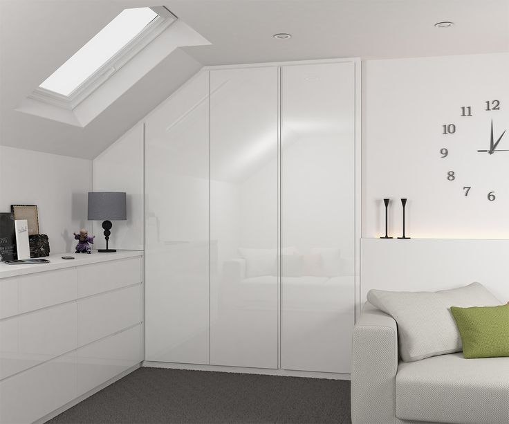 Blaze - high gloss hinged wardrobe with handle less doors