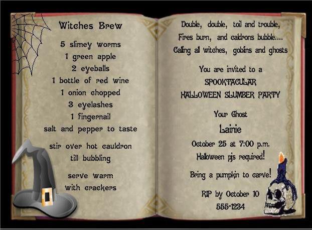 The Best Halloween Birthday Party Invitations Ideas On - Halloween birthday invitations uk