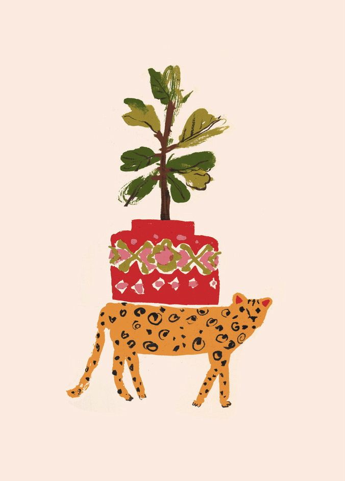 Danielle-Kroll_Buddy-Editions_Cheetah_Leisure_animal-leopard-nursery-childrens-kids-art-print-fig-tree
