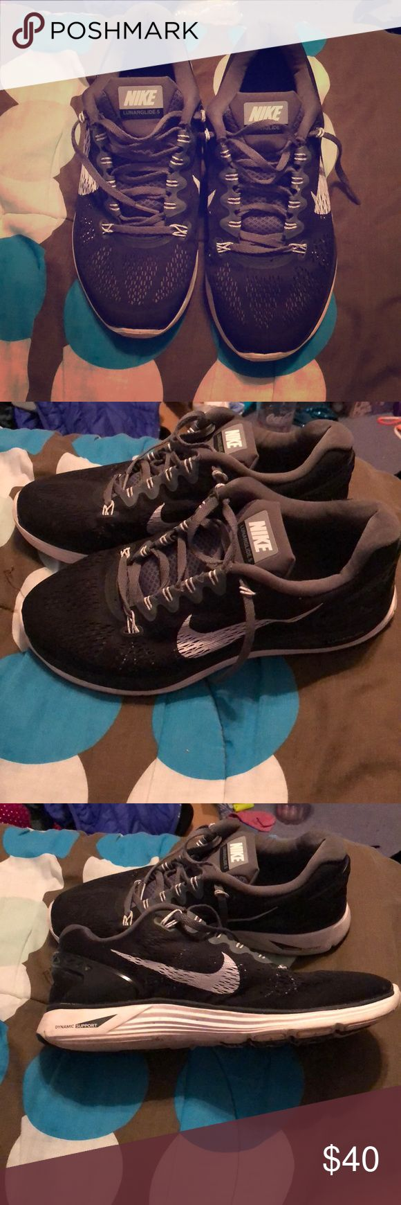 Nike Lunarglide 5 In great condition black Nike Lunarglide 5 men's shoes. Smoke free home! Nike Shoes Athletic Shoes