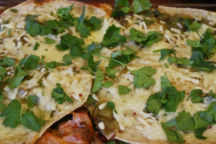 "Point-less"" Meals: Stacked Chicken Enchiladas"