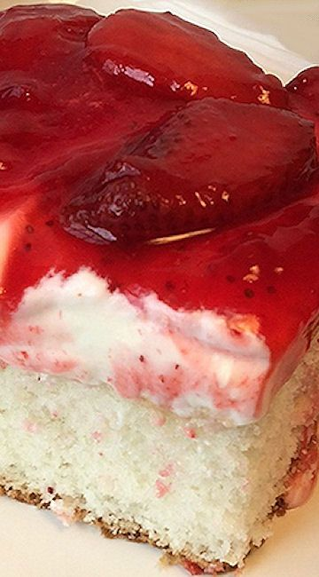 Strawberry Dream Cake. Sub for danish dessert is 1c sugar, 4 TB cornstarch, 1pack unsweetened koolaid, & 2c cold water. Boil til thick, cool & add fruit