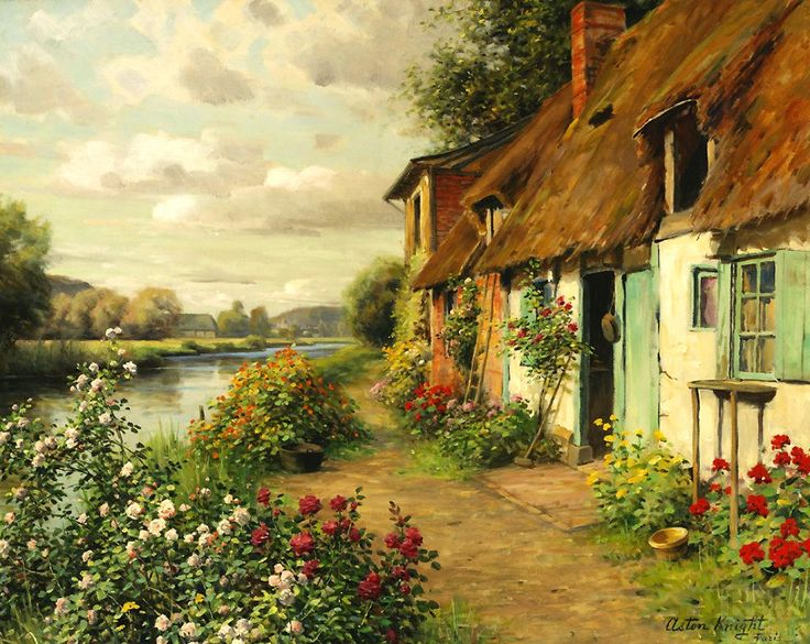 Louis Aston Knight (1873-1948) - The Blue Cottage