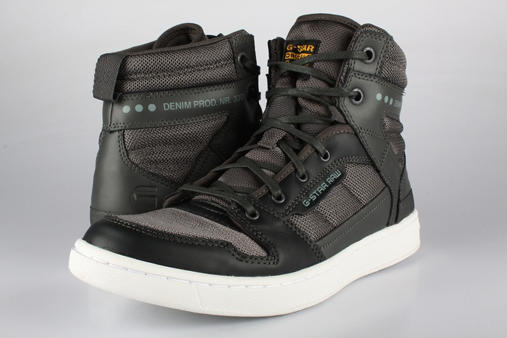 "An outfit can never be complete without the appropriate footwear. This model, the CORE II SPECTRUM HI,delivered by g-star, is the ideal complement of a relaxed whilst urban style. Inspired by the design of hi-top basketball shoes combined with miltary shapes (the laces evoque those of military ""rangers"" boots) and urban tones, they are an outstanding piece of design. Also available in blue or white. I personally bought a pair a few weeks ago and couldn't be more satisfied."