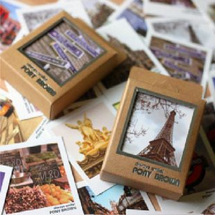 40 pcs/lot Mini Vintage Retro Lomo Kartu Pos Pemandangan Kartu Pos Ucapan untuk Anak Hadiah Gratis pengiriman