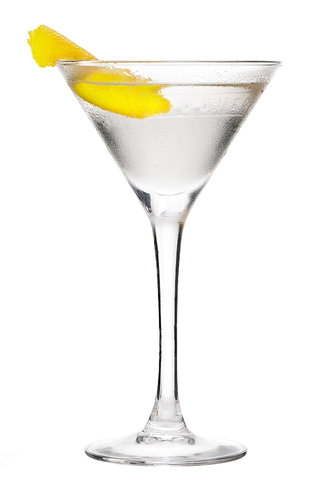 VODKATINI : INGREDIENTS -   2 1/2 measures Vodka  1/4 Dry Vermouth  Garnish    Olive or lemon zest twist  INSTRUCTIONS - 1 Serve drink with all ingredients shaken with ice. 2 Fine strain into a glass. HOW TO SERVE IT -   Serve in a Martini glass  Garnish with lemon zest twist or olive