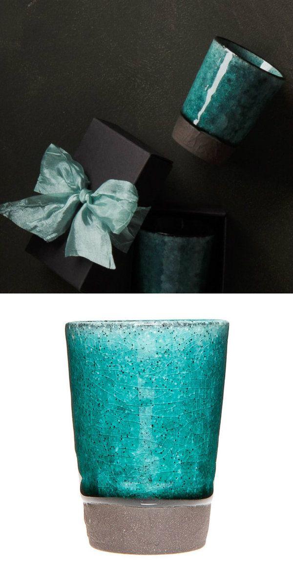 Becher-set von URBANARA, blau. 100% Keramik.   Stunning blue ceramics from URBANARA