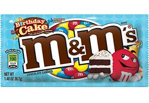 Birthday Cake Flavored M&MS Are Coming Soon. Yes, yes, and yes.