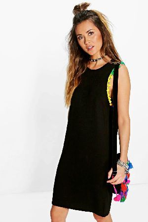 #boohoo Multi Coloured Pom Pom T-Shirt Dress - black #Pared back day dresses are the perfect base for layering up this seasonNo off-duty wardrobe is complete without a casual day dress. Basic bodycon dresses are always a winner and casual cami dresses a key piece for pairing with a polo neckandcomma; giving you that effortless everyday edge. Tone down the twinkle for day by teaming a sequin slip dress with a jersey tee ? genius! Soandcomma; if you ever get caught out for cocktailsandcomma…