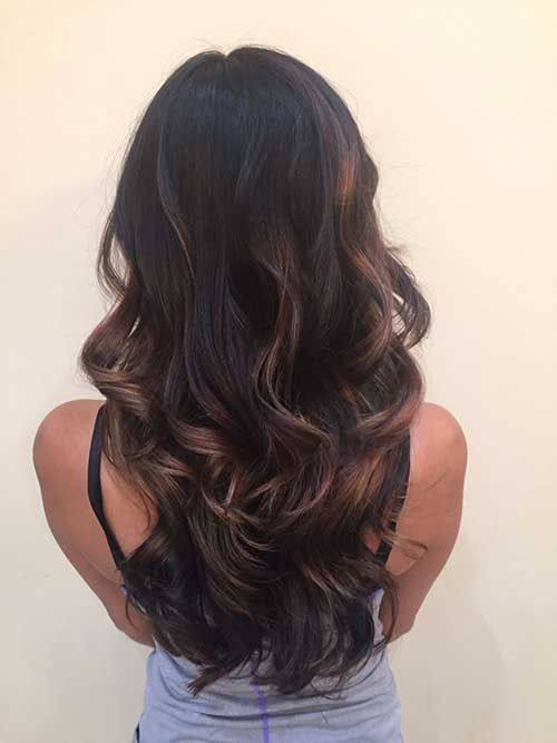 Sombre Dark Hair Highlights