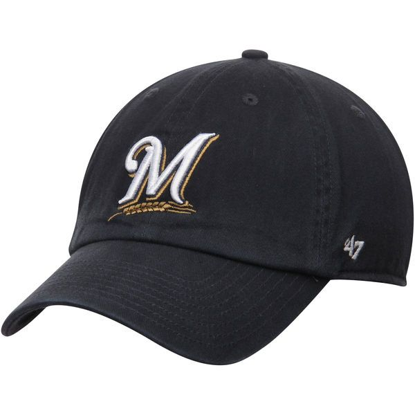 Milwaukee Brewers '47 Brand Basic Logo Clean Up Game Adjustable Hat - Navy - $21.99