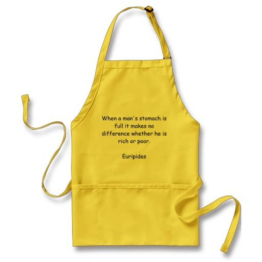 Standard apron with Euripides quote - With food quote from Ancient Greek philosopher Euripides.  http://www.zazzle.com/standard_apron_with_euripides_quote-154269560687075699