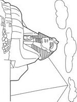kleurplaat Sphinx, Egypte