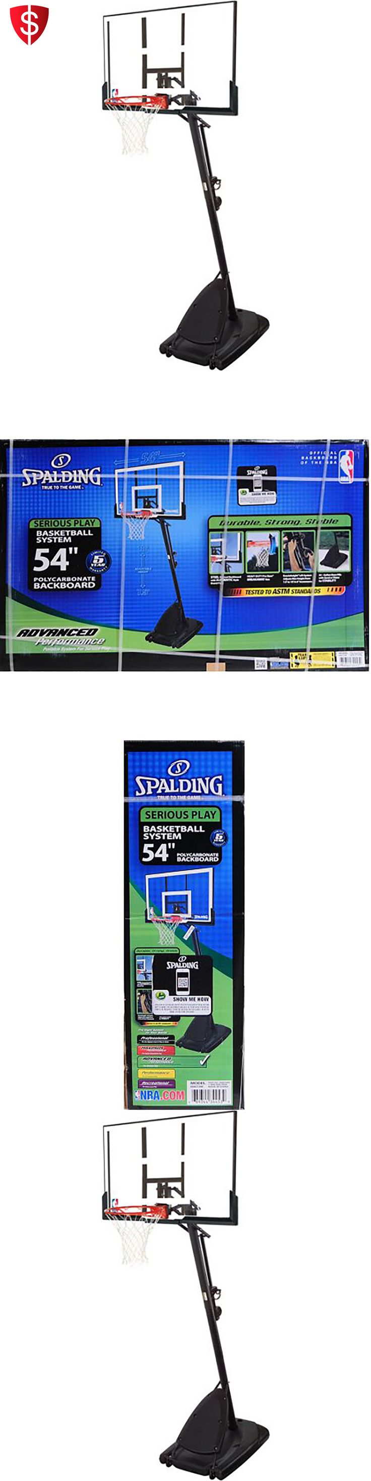 Backboard Systems 21196: Basketball Backboard 54 Portable Clear Net Goal Adjustable Hoop Outdoor Play -> BUY IT NOW ONLY: $232.96 on eBay!