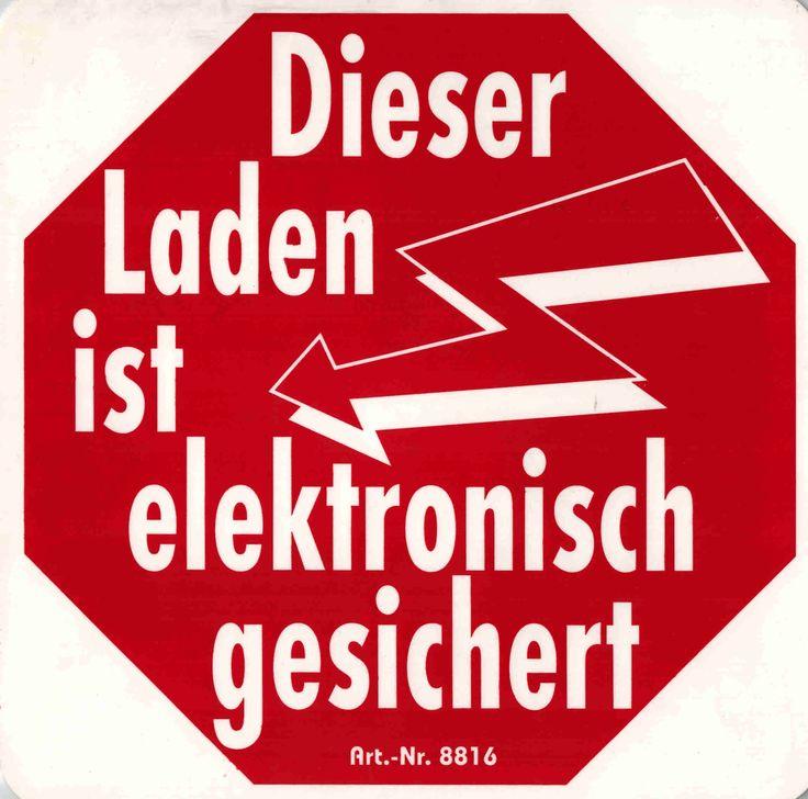 Hinweis-Schild - PST-Schild Laden ist elektronisch gesichert, vielseitig einsetzbar, wasserfest und wetterbeständig