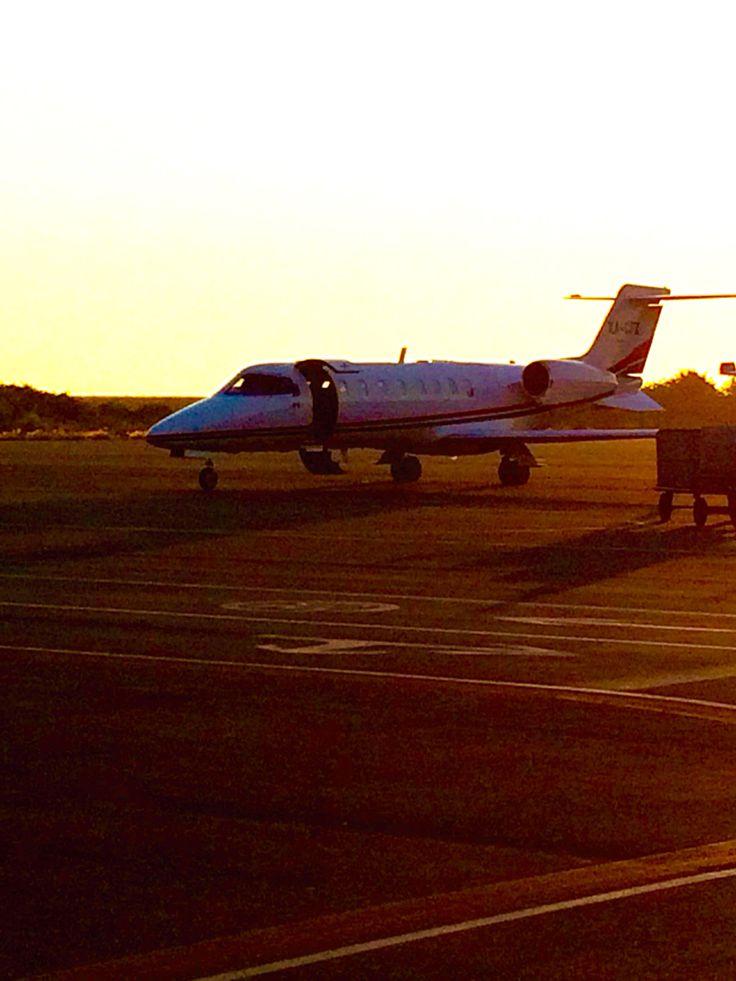 A prívate jet ready to fly