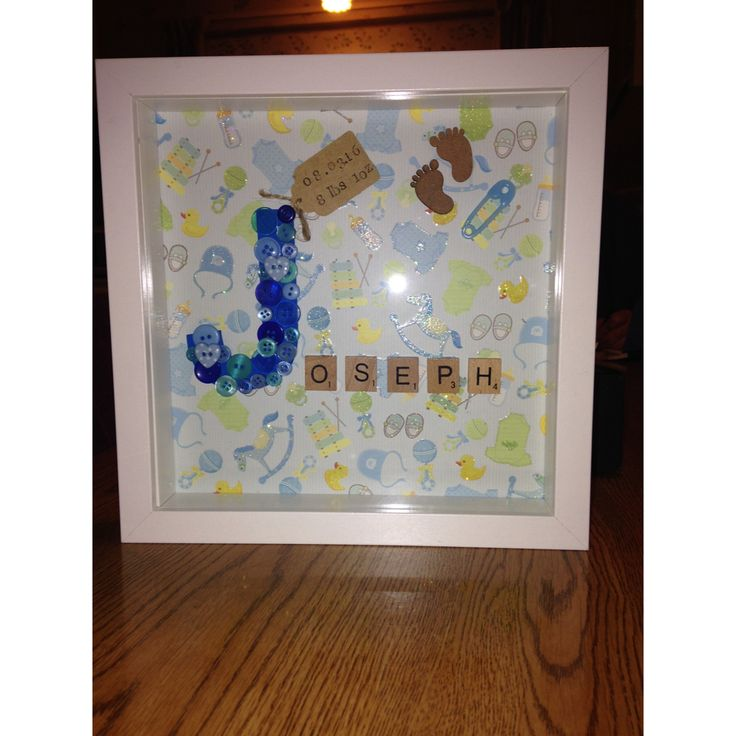 Personalised frame, baby frame. Comment for enquires. :)
