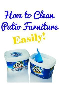 How to Clean Patio Furniture - removes stains and mold - via Simply Stacie