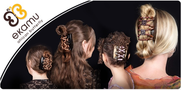 African Butterfly hair clips from @Leigh Gammond!