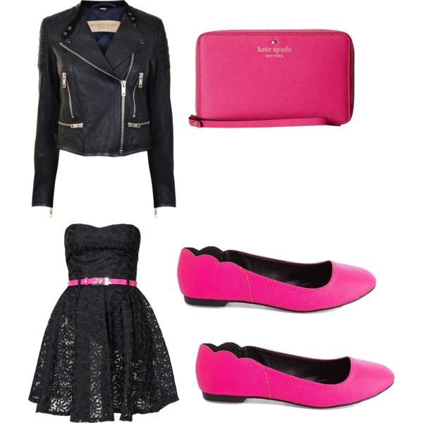 A Middle School Dance by exotic-dreamz-niya on Polyvore featuring Club L, Burberry, Charlotte Russe and Kate Spade