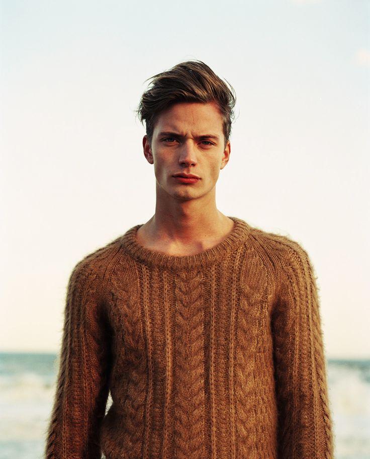 Bound scoop neck sweater. Winter attire.