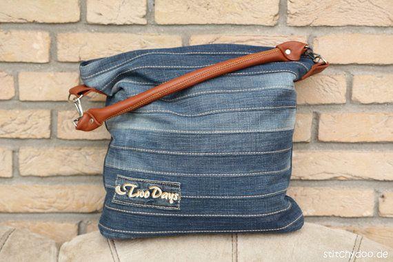 """Patrón de costura para el elegante bolso de mano """"Chobe"""" - ideal para upcycling un viejo par de pantalones vaqueros"""