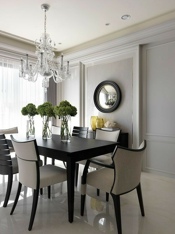 Traditional Dining Rooms Interior Styling Design House Renovations Room Organization Luxury Houses White Beautiful