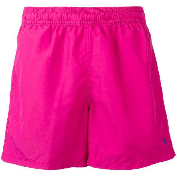 Polo Ralph Lauren - swim shorts - men - Nylon/Polyester - L ($77) ❤ liked on Polyvore featuring men's fashion, men's clothing, men's swimwear, purple, men's apparel, polo ralph lauren mens swimwear, mens swimwear, mens swim trunks and polo ralph lauren mens clothing