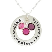 Show details for Circle of Love with Multiple Birthstones